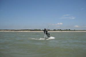 Stagiaire de l'école de kitesurf